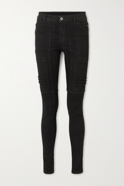 Rick Owens - Nagakin Paneled Mid-rise Skinny Jeans - Black