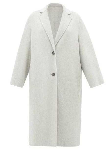 Joseph - Newman Single-breasted Wool-blend Coat - Womens - Light Grey