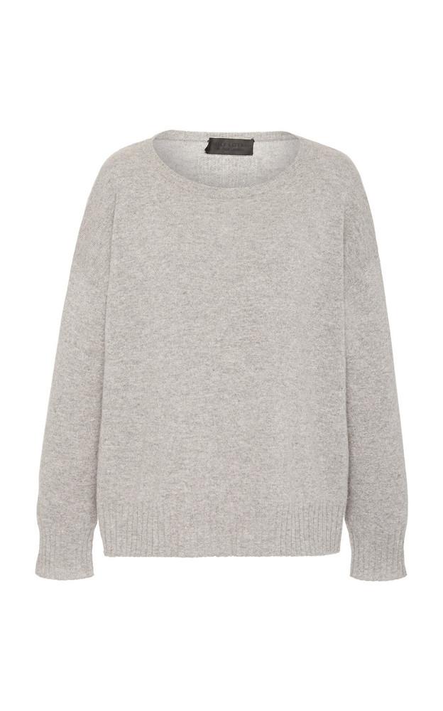 NILI LOTAN Boyfriend Oversized Cashmere Sweater Size: XS in grey