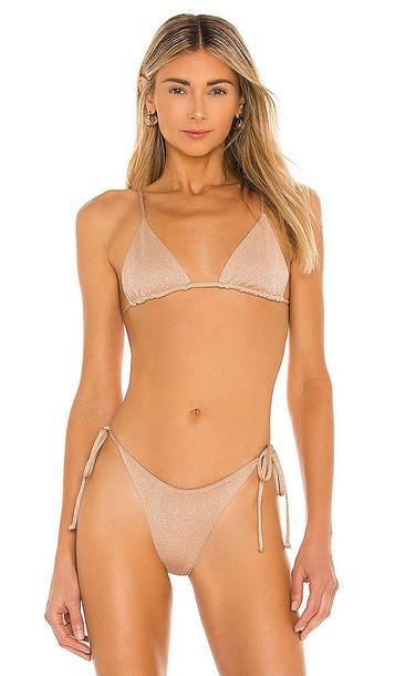 L*SPACE Brittany Bikini Top in Neutral