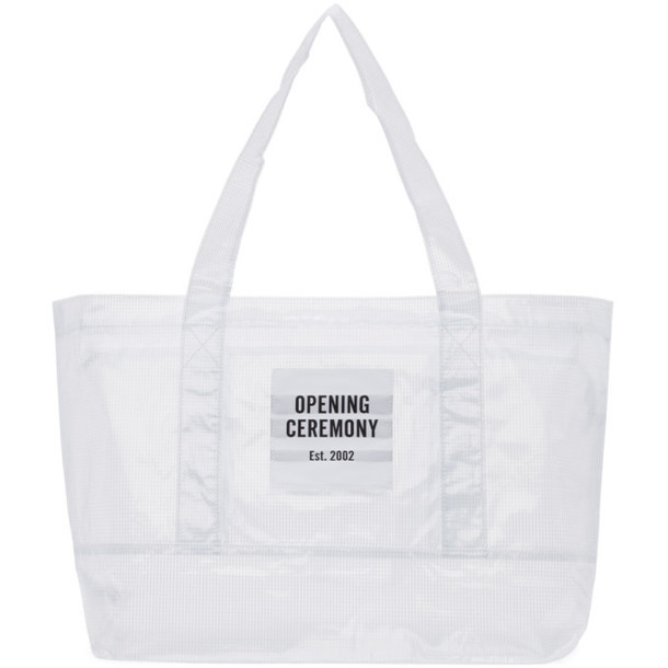 Opening Ceremony SSENSE Exclusive White Medium Chinatown Tote