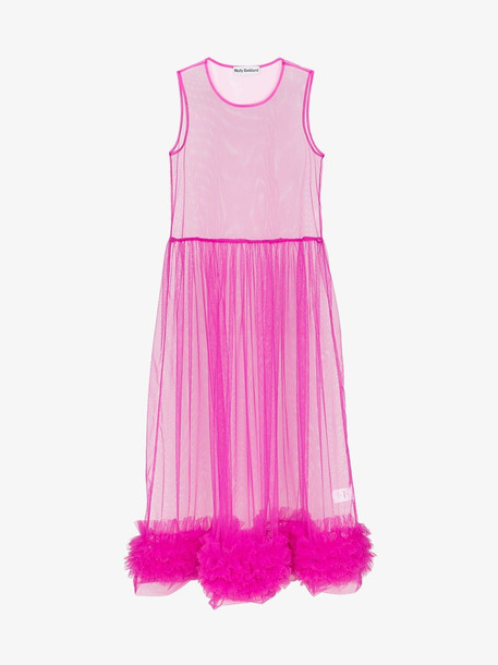 Molly Goddard Alison sleeveless ruffle dress in purple