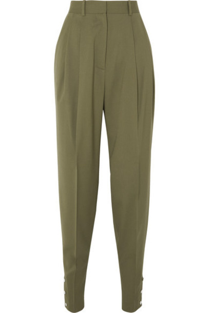 Altuzarra - Atomica Pleated Wool-blend Tapered Pants - Gray