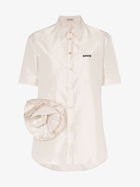 Miu Miu rose detail shirt