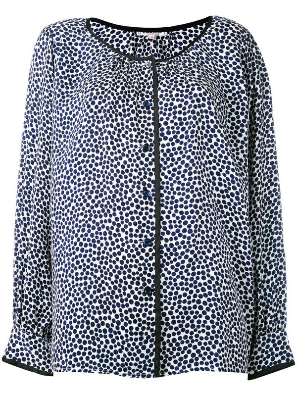 Yves Saint Laurent Pre-Owned dotted blouse in blue