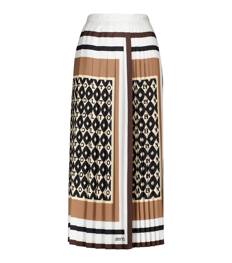 Valentino High-rise pleated midi skirt