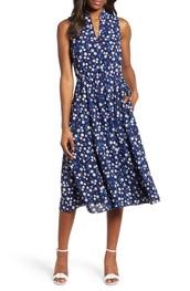 dress,blue floral dress