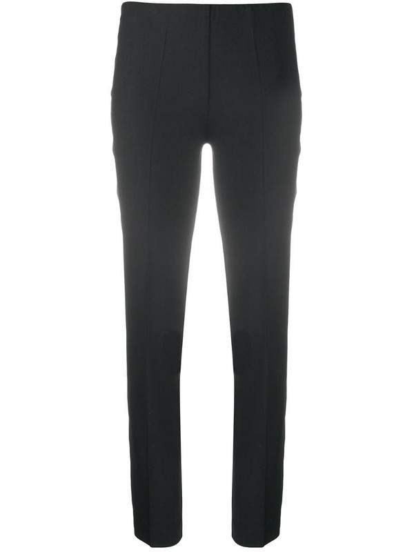 P.A.R.O.S.H. slim fit cropped trousers in black