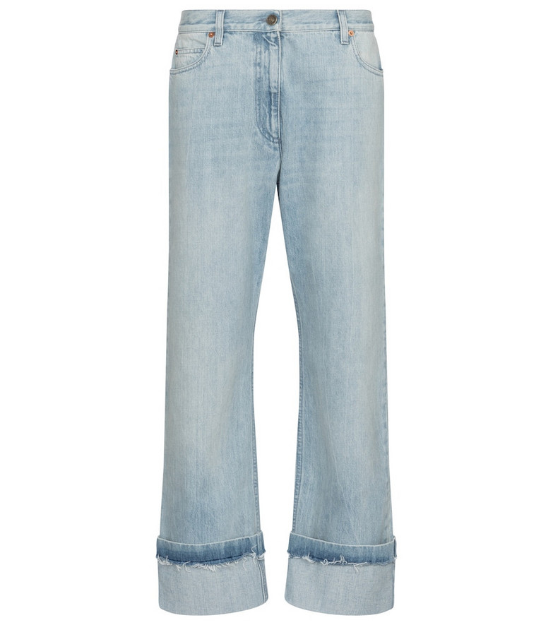Gucci Mid-rise boyfriend jeans in blue