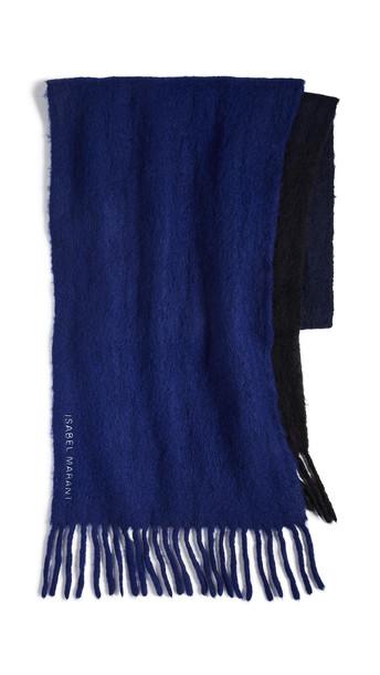 Isabel Marant Firna Scarf in black / blue