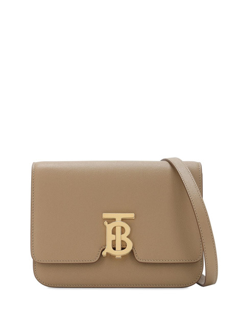 BURBERRY Small Tb Leather Shoulder Bag in beige