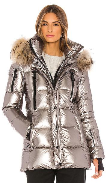 SAM. SAM. Millennium Puffer Jacket in Metallic Silver