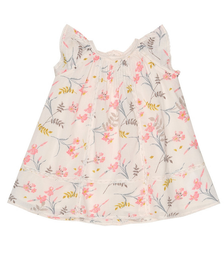 Bonpoint Baby floral cotton-voile dress in pink