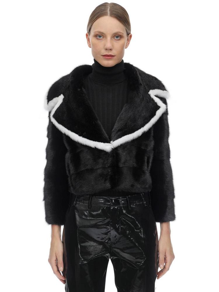 SIMONETTA RAVIZZA Black Mink Jacket