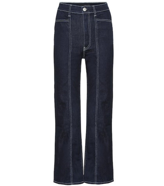 3x1 Albany high-rise straight jeans in blue