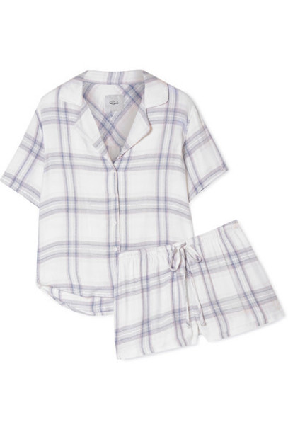 Rails - Checked Flannel Pajama Set - Blue