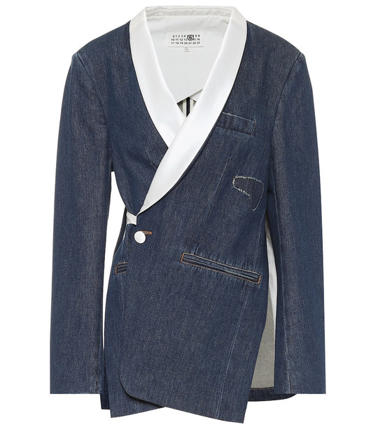 MM6 Maison Margiela Denim blazer in blue