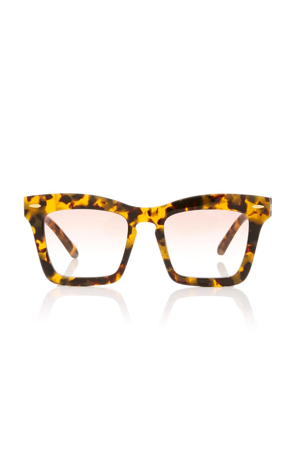 Karen Walker Banks Square Acetate Sunglasses in brown