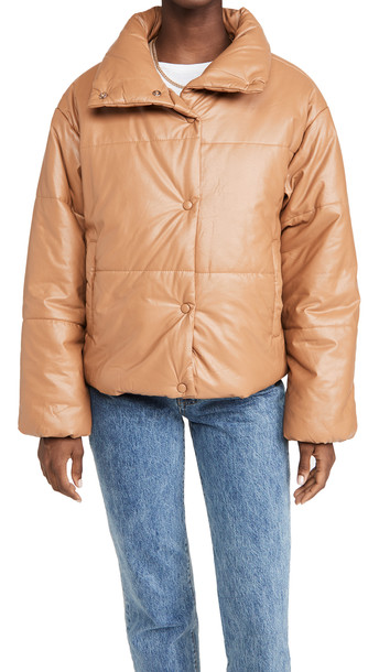 Lioness Small Talk Jacket in camel