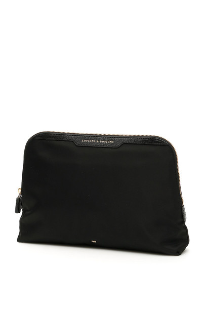 Anya Hindmarch Lotions And Potions Pouch in black