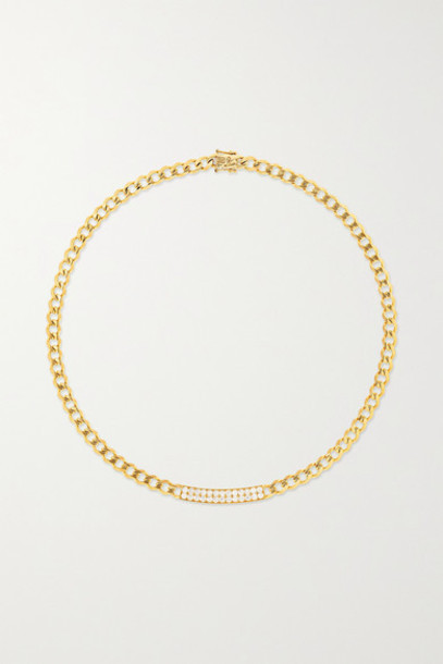 Sydney Evan - Id Bar 14-karat Gold Diamond Necklace