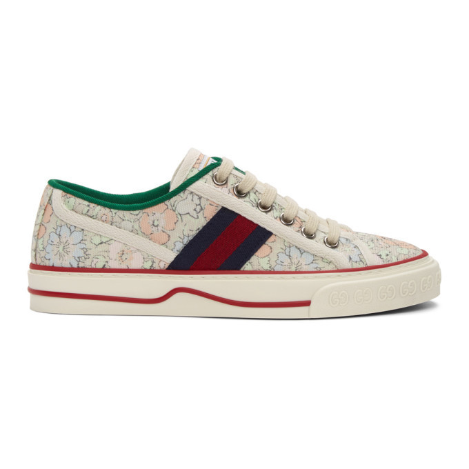 Gucci Green Liberty London Edition Gucci Tennis 1977 Sneakers in mint