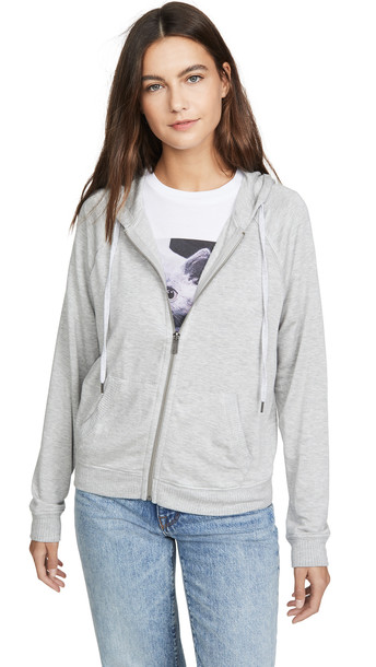 Splendid Super Soft French Terry Hoodie in grey