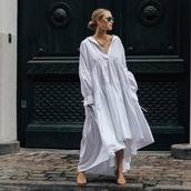 dress,white dress,long sleeve dress,sandal heels