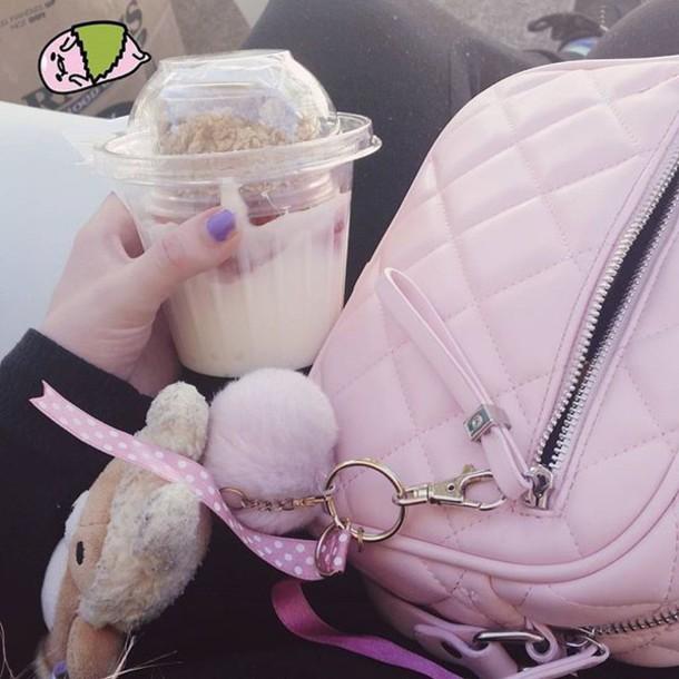 bag pink pastel purse satchel