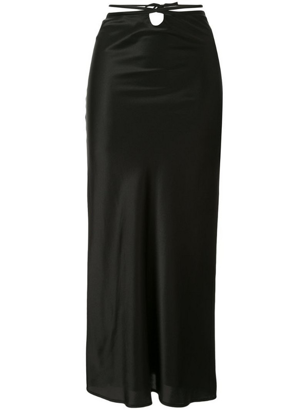 Christopher Esber wrapped tie skirt in black