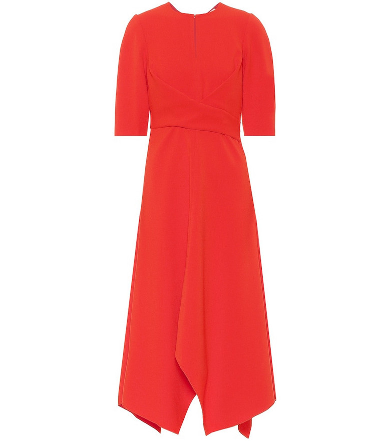 Dorothee Schumacher Sophisticated Perfection midi dress in red