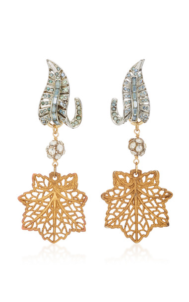 Lulu Frost Silver and Gold-Plated Crystal Earrings