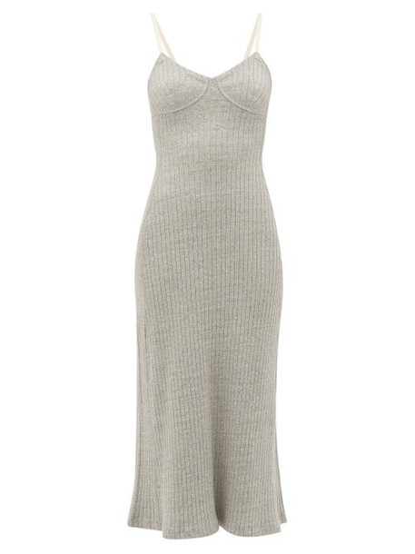 Jil Sander - Ribbed Recycled-cotton Nightdress - Womens - Grey