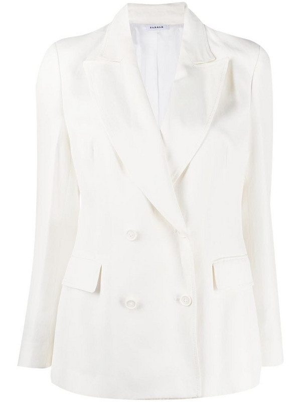 P.A.R.O.S.H. double-breasted tailored blazer in white