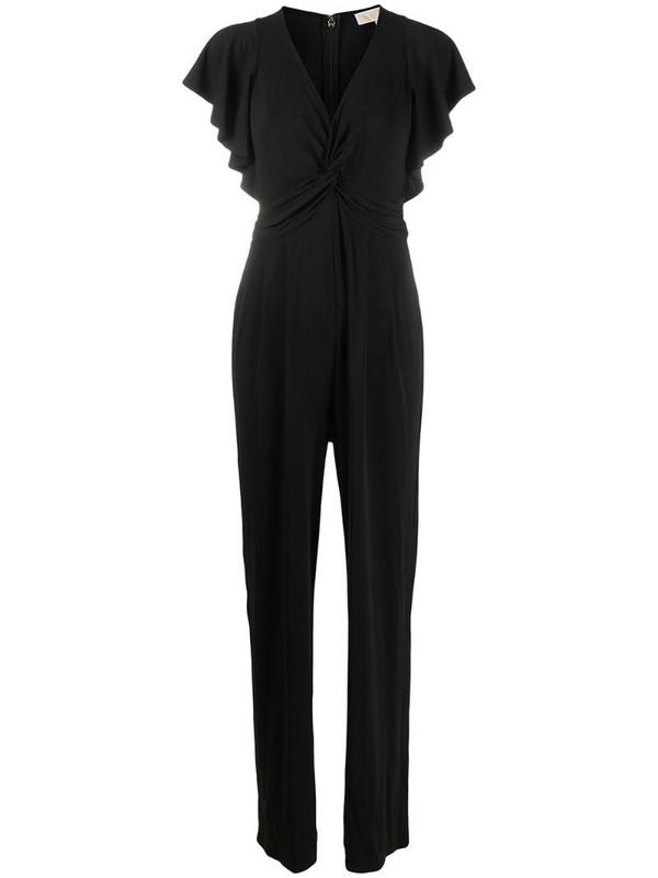 Michael Michael Kors draped straight-leg jumpsuit in black