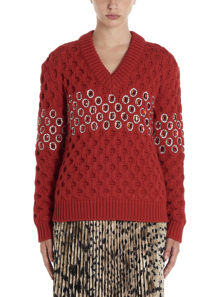 Prada cordo Canestro Sweater in red