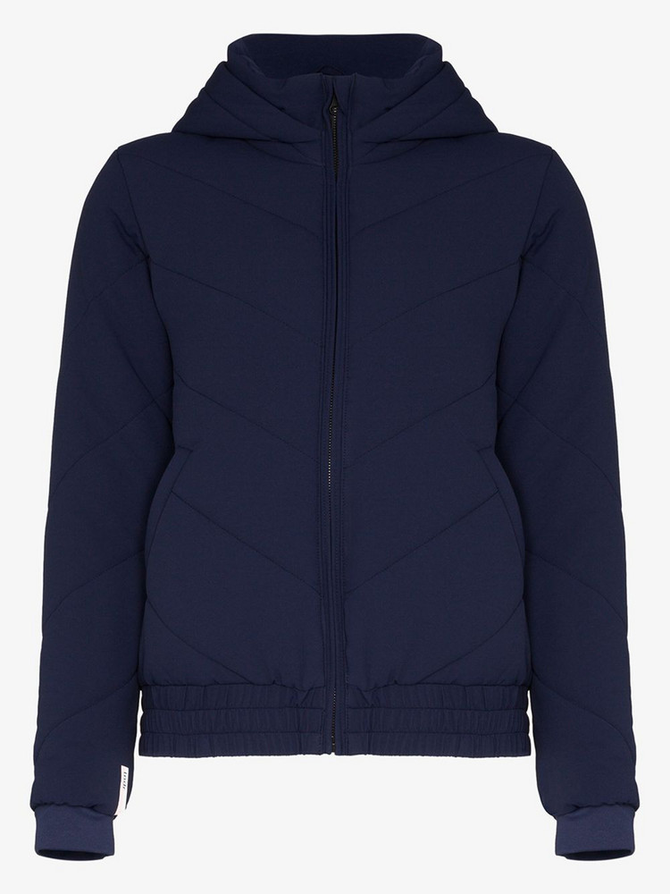 LNDR panel back puffer jacket in blue