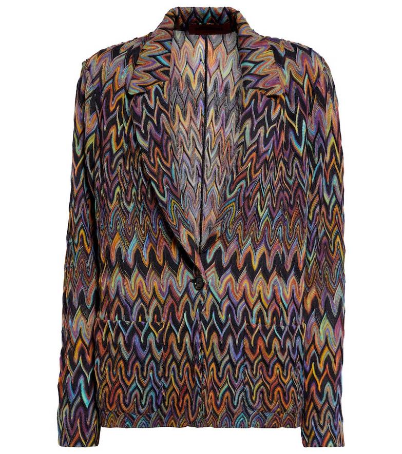 Missoni Zig-zag knit wool blazer