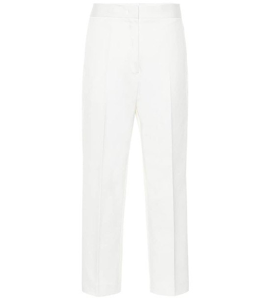 Jil Sander Cotton-twill straight pants in white