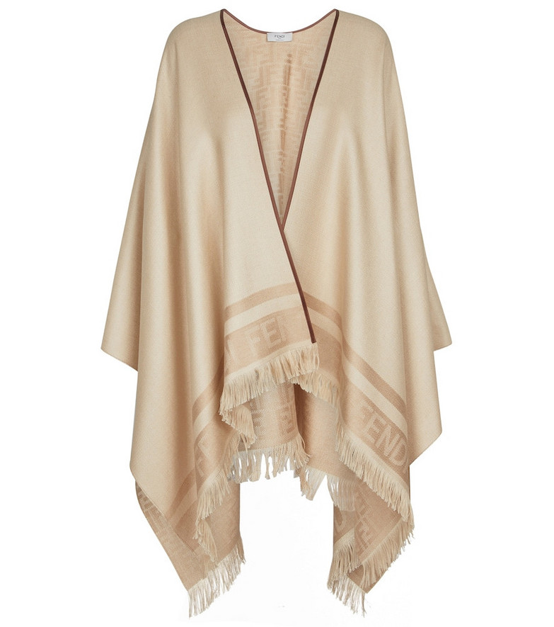 Fendi Silk and cashmere scarf in beige