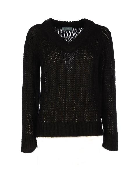 Prada Mohabir Sweater With V Neck in black