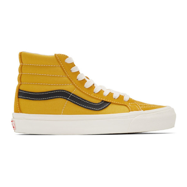 Vans Yellow & Black OG Sk8-Hi LX Sneakers