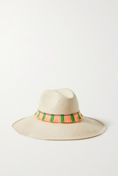 ARTESANO - Portofino Fringed Straw Panama Hat - Ecru