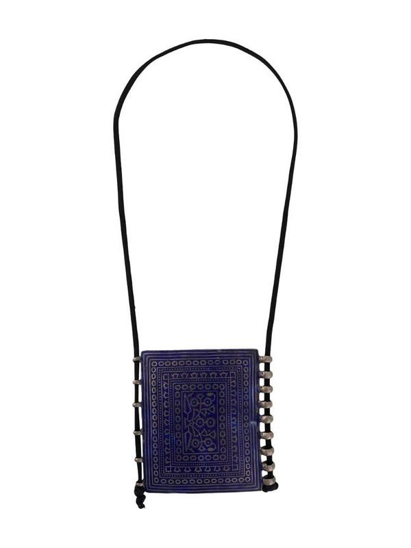 A.N.G.E.L.O. Vintage Cult 1970s square pendant necklace in purple