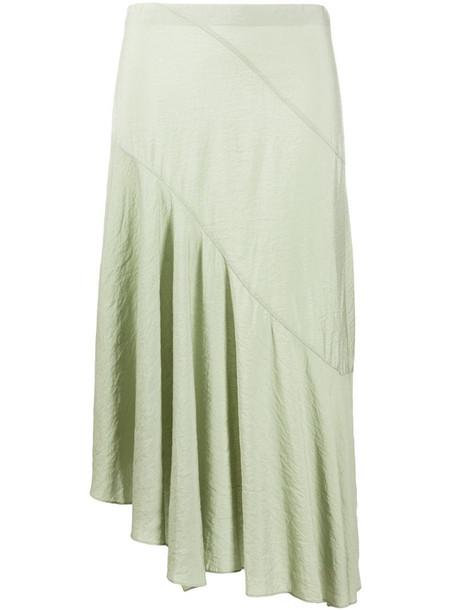 Vince asymmetric draped skirt in green