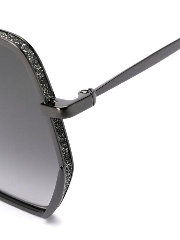 Jimmy Choo Eyewear oversized sunglasses in black