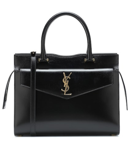 Saint Laurent Uptown Medium leather tote in black