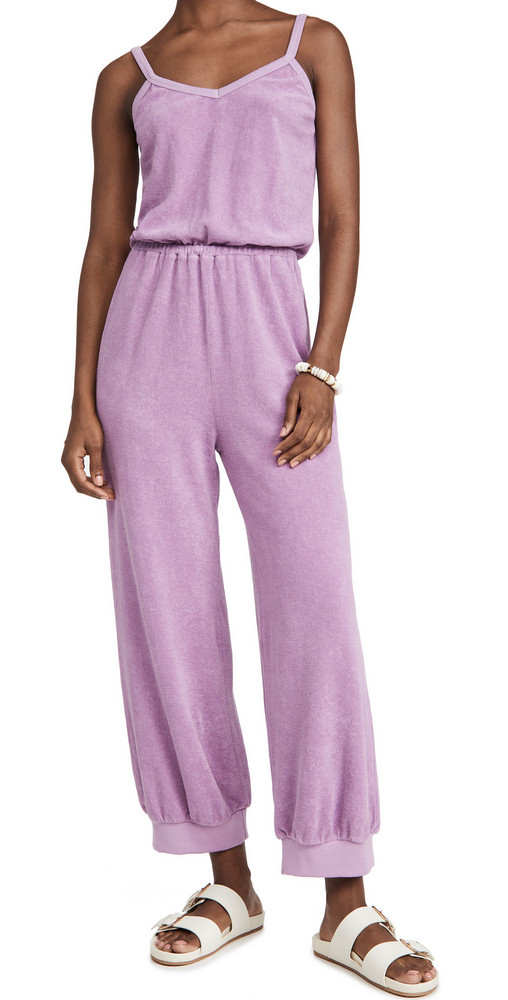 Kondi Terry Tank Jumpsuit in lavender