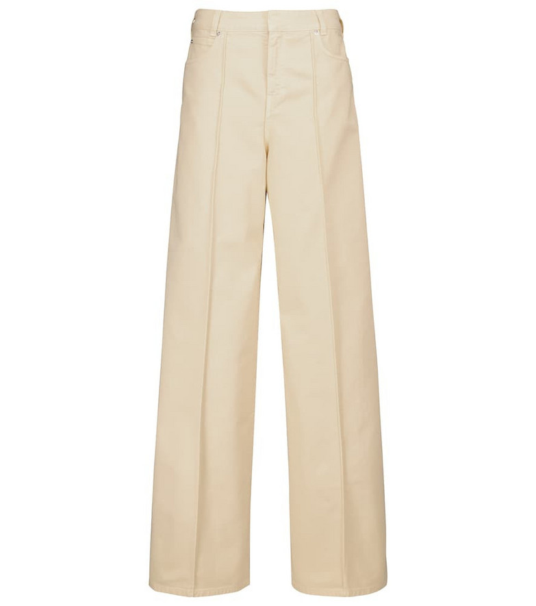 Victoria Victoria Beckham High-rise wide-leg jeans in white