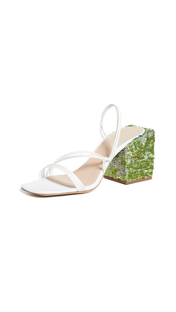 Jacquemus Les Mules Estello Slides in white